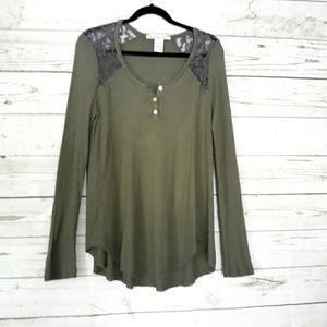 American Rag Olive Green Long Sleeve Top